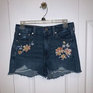 American Eagle Embroidered Mom Shorts